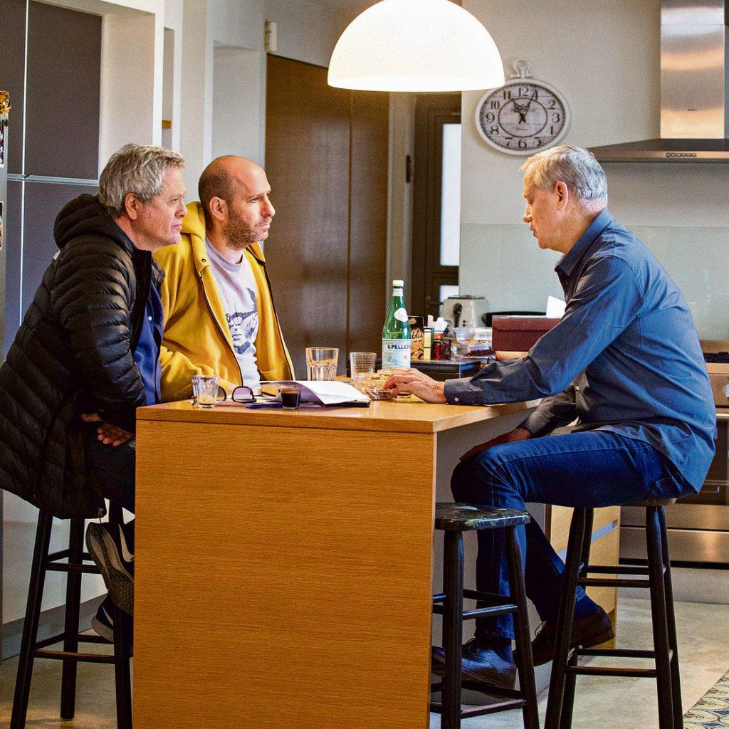 בני גנץ בריאיון עם שלמה ארצי וחנוך דאום (צילום: תומריקו)